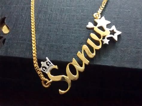How To Get A Custom Name Pendant Necklace Made in India