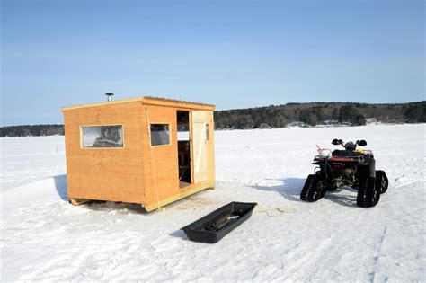 A new kind of ice shack is popping up on Maine lakes and
