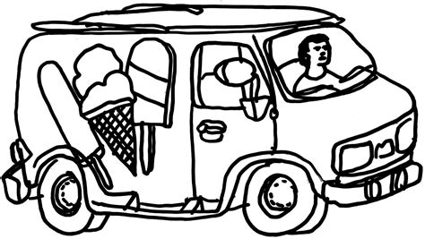 Ice Cream Truck Coloring Page - Coloring Home