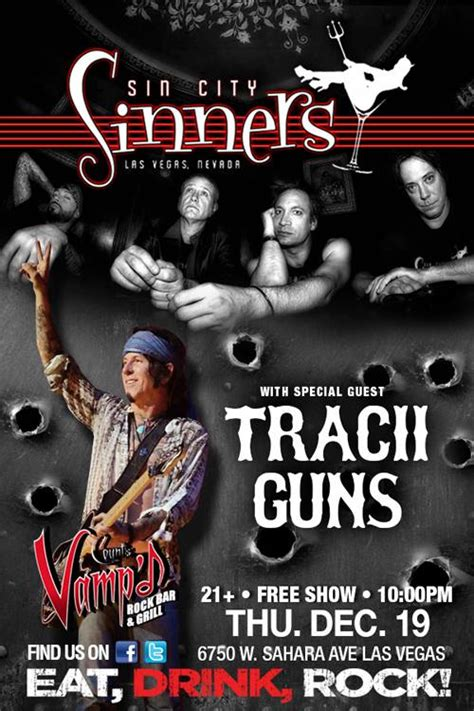 Sin City Sinners With Special Guest Tracii Guns at Counts