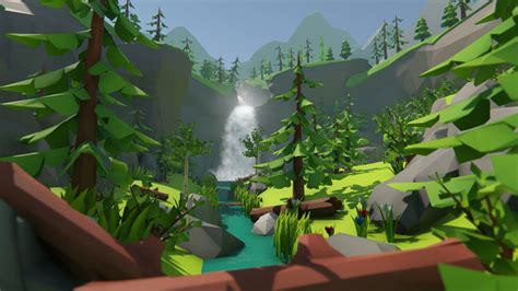 Lowpoly Forest Environment Pack 3D asset   CGTrader