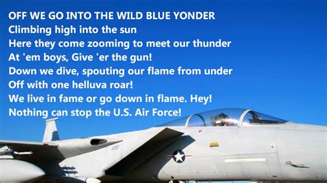 Off We Go Into The Wild Blue Yonder United States Air