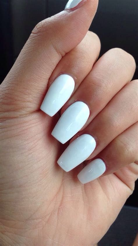 Pictures of coffin white nails - New Expression Nails