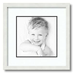 ArtToFrames Matted 14x14 White Picture Frame with 2