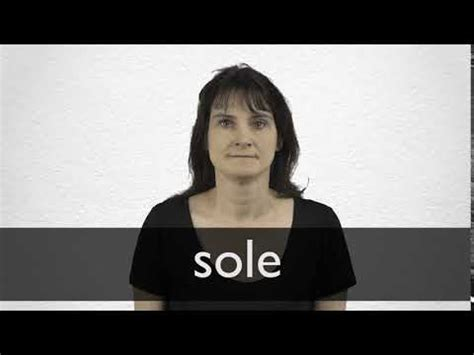Sole definition and meaning | Collins English Dictionary