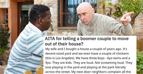 """Man Asks If He's Wrong For Telling """"Boomer Couple"""" To Move"""
