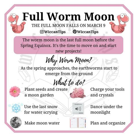Full Worm Moon | Witchcraft spell books, Wiccan spell book