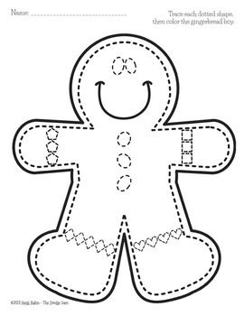 Gingerbread Boy and House - Shape Tracing and Graphing